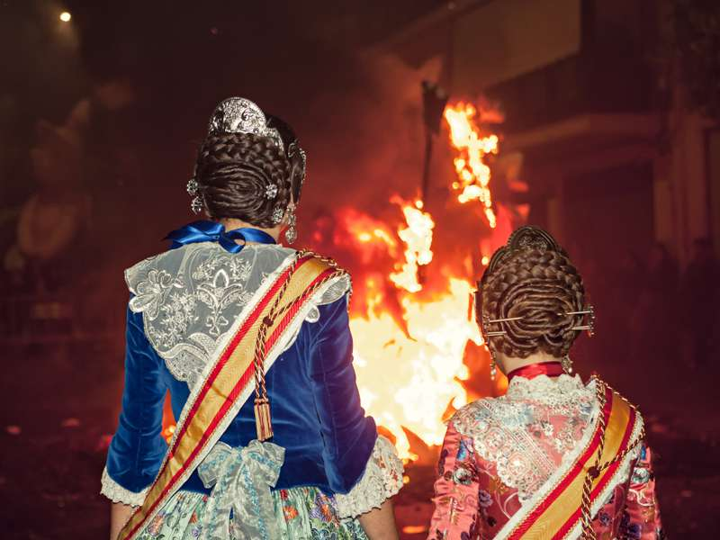 Las Fallas in Valencia: An explosion of light, color and flavor